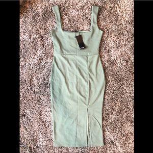 Nasty Gal Sage Midi Dress with slit